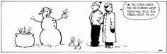 10 Calvin and Hobbes comic strips involving hilariously morbid snowmen...  I miss this strip!
