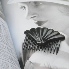 Never too old for a pretty vintage hair comb. #haircomb #vintage #vintagehair #artdeco #vintageaccessory
