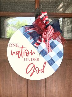 4th July Crafts, Fourth Of July Decor, 4th Of July Decorations, Patriotic Crafts, July 4th, Wooden Door Signs, Wooden Door Hangers, Wooden Doors, Canvas Door Hanger