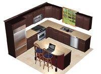 10 X 12 Kitchen Layout duracraft kitchen cabinetry |  bishop, eudora, door components