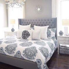 10 Charming Navy Blue Bedroom Ideas | Pinterest | Master bedroom ...