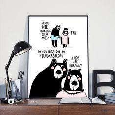 Plakat Nieobrażalska - 30x40cm (A3) Good Mood, Motto, Diy And Crafts, Poems, Positivity, Writing, Humor, Motivation, Children