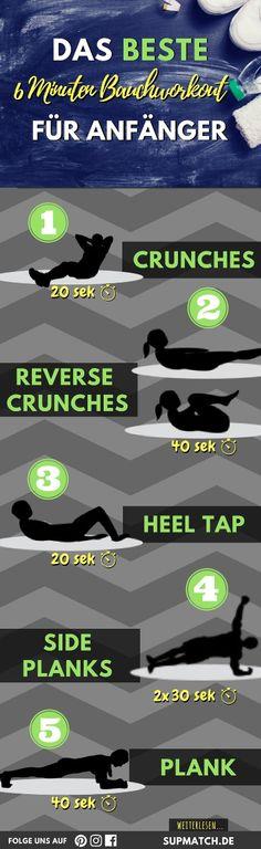 Das beste 6 Minuten Bauchworkout für Fitness Anfänger