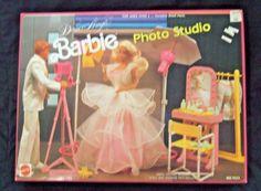 1989 Mattel Dance Magic Barbie Doll Photo Studio Furniture Play Set NRFB for sale online Studio Furniture, Barbie Furniture, American Girl Furniture, Disney Characters Costumes, Barbie Playsets, Vintage Barbie Dolls, Barbie House, Miniture Things, Photo Studio