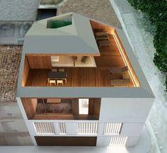 Se trata de una casa entre medianeras situada en la esquina de una manzana residencial, por lo que goza de la comodidad de las viviendas urbanas a la vez que cuenta con unas amplias vistas sobre la huerta que se desdibujan en el horizonte.