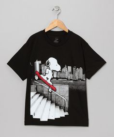 Take a look at this Black Snoopy Skate Tee - Kids by Peanuts by Charles Shultz on #zulily today!