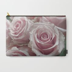 Soft Pink Rose Bouquet Carry-All Pouch Large Size