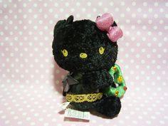 HELLO KITTY Kawaii Devil Plush Doll Xmas Ver. Black Sanrio JAPAN 2007