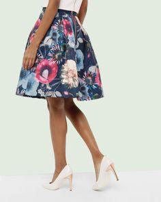 Neon Poppy pleated skirt - Navy   Skirts & Shorts   Ted Baker