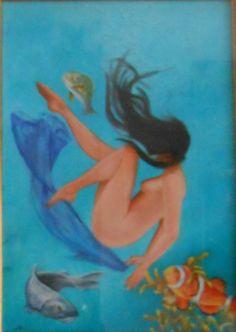 fantasia marina cm.30x40 olio su tavola