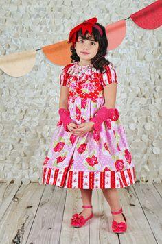 Girls Valentine Dress Prairie  Style by ISADORAKIDS on Etsy, $65.00