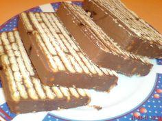 Prajitura cu ciocolata si biscuiti ---  NO BAKE