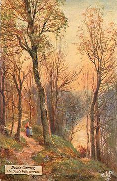 THE BURN'S WALK, DUMFRIES Fall Season, Burns, Most Beautiful, Heaven, Walking, Seasons, Places, British Artists, Painting