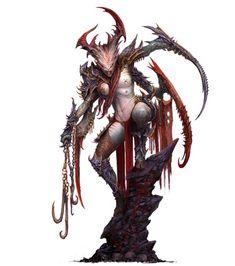 "Creature Caster Unveils ""Not Slaanesh"" Models at Adepticon - Spikey Bits Fantasy Model, Fantasy Figures, Fantasy Warrior, Dark Fantasy Art, Warhammer 40k Art, Warhammer Models, Warhammer Fantasy, Chaos Daemons, Demon Art"