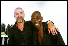 George Michael and Faithless backstage