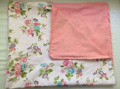 Baby girl receiving blanket shabby chic bedding by LilThyngCrafts