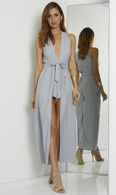 VALENCIA PLAYSUIT – DOVE   Runaway The Label