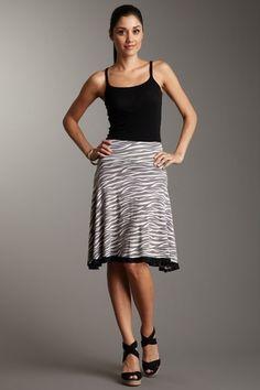 A-Line Zebra Skirt