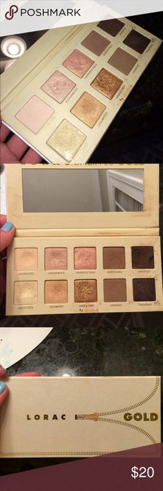 Lorac unzipped gold eyeshadow palette Used a few times, very rarely. Super pigmented, colors go on very nicely and stay all day. Urban Decay Makeup Eyeshadow
