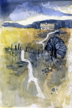 Paul Bailey Golden fields | Flickr - Photo Sharing! Watercolor Landscape, Watercolor And Ink, Abstract Landscape, Watercolour Painting, Landscape Paintings, Abstract Art, Watercolours, Expressive Art, Contemporary Landscape