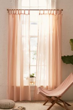 Shop Sheer Voile Window Curtain at Urban Outfitters today. Blush Curtains, Voile Curtains, Window Curtains, Patterned Curtains, Brown Curtains, Bedroom Curtains, Window Panels, Urban Outfitters Room, Wood Medicine Cabinets