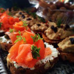 salmon finger food
