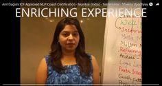 """ ENRICHING EXPERIENCE ! ! ""   Testimonials Anil Dagia's ICF NLP PRACTITIONER DUAL Certification Life Coach Training #Mumbai  Shweta Upadhyay, Educationist  http://www.anildagia.com/testimonials/442-shweta-upadhyay-icf-approved-nlp-coach-certification-mumbai-india  #NLP Training from Anil Dagia  #ICF #NLP #PRACTITIONER #DUAL #Certification #Life #Coach #Training ( #India )  NOV #Pune…"