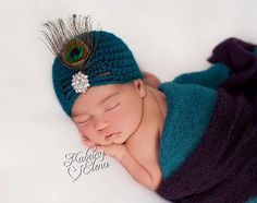Hey, I found this really awesome Etsy listing at https://www.etsy.com/listing/186941901/newborn-peacock-hat-crochet-flapper-hat