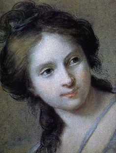 A girl, by Vigee Le Brun. Pastel. 1782