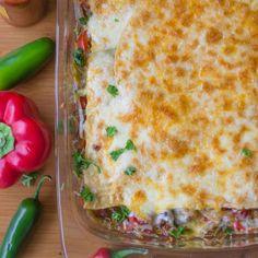 Dinner is served. Chile Enchilada Casserole