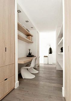 Home office nook bureaus 36 ideas for 2019 Interior Architecture, Interior And Exterior, Contemporary Architecture, Interior Ideas, Home Office Design, House Design, Office Nook, Hallway Office, Loft Office
