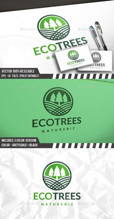 Green Forest - Logo Design Template Vector #logotype Download it here: http://graphicriver.net/item/green-forest-logo/14464628?s_rank=166?ref=nexion