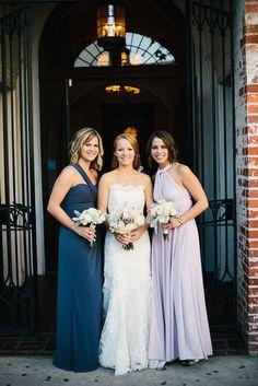f33054ac489 Downtown LA Wedding from Ken Kienow Photography. Mismatched Bridesmaid  Dresses ...