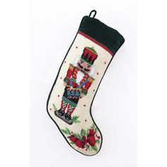 Decorate your holiday mantel this year with new Christmas stockings for everyone in your family! The Well Appointed House has a large collection of holiday needlepoint stockings. The stocking measures X Order now for Christmas delivery! Needlepoint Stockings, Christmas Stocking Pattern, Christmas Stocking Holders, Needlepoint Patterns, Nutcracker Christmas, Noel Christmas, Nutcracker Ornaments, Nutcracker Soldier, Hardanger