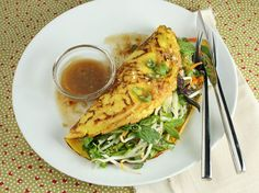 A personal favorite of mine, adapted from Yotam Ottolenghi: Vegetarian Vietnamese Pancakes