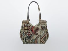 Tapestry tote bag, kilim and Paisley pattern, tapestry shoulder bag, tapestry bag, bohemian tote bag, gobelin handbag,  carpet bag,roomy bag
