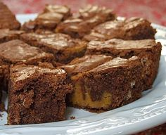Chocolate Pumpkin Brownies, supposedly adapted from a weight watcher's recipe, wonder if I could adapt them back...