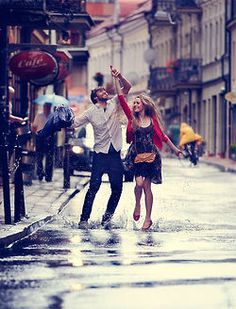 Dancing in the rain. just because.