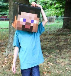 Easy DIY cardboard box Minecraft costume // Egyszerű Minecraft jelmez kartondobozból // Mindy - craft tutorial collection // #crafts #DIY #craftTutorial #tutorial