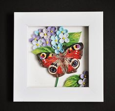 #quilling #quillingpaper #quillingart #hydrangea #butterfly Quilling Butterfly, Quilling Flowers, Quilling Cards, Paper Quilling, Quilling Ideas, Butterflies, Ribbon Embroidery, Animal Drawings, Minis
