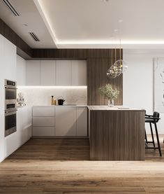 Apartment in minimalist styleVisualization: VizLine Studio Designer: Yulia Pracht