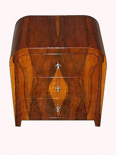 Delta Co NY ART DECO Nightstand Antique French Lamp Table