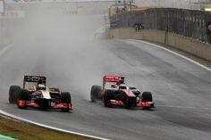 Race winner Jensen Button passes De La Rosa in Brazil. Formula 1® - The Official F1® Website
