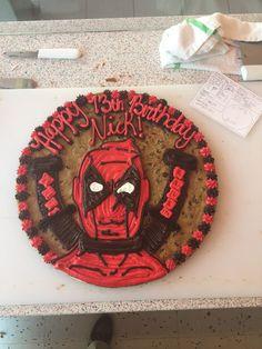 American Cookie, Cookie Cakes, Cookie Designs, Poppies, Spiderman, Birthday Cake, Desserts, Ideas, Spider Man