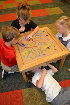 Ridiculously inspired by the idea of a tapestry table for preschoolers and kindergarteners (so 3-6 years)
