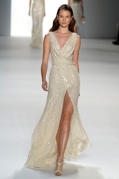 "If I wanted a ""reception"" dress, this could work.  A little more relaxed and fun.  (Elie Saab)"