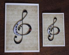 Treble Fun Piano Treble Clef Musical Notation Mailing Envelopes, Music Jewelry, Any Music, Quilling Cards, Treble Clef, Small Cards, Piano, Musicals, Appreciation