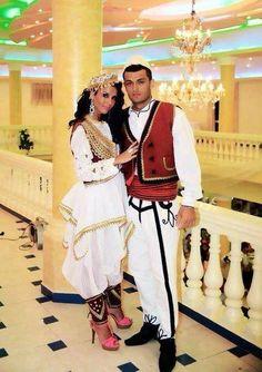Traditional albanian couple