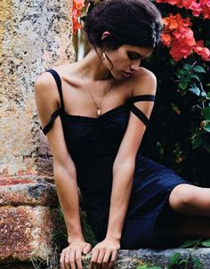 Sara Sampaio by Kayt Jones for Elle France 13th February 2015 dolce & Gabbana little black dress