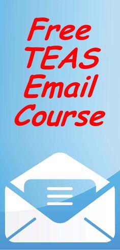 Free TEAS Test review course by email. #teastest #nursingschool #teas